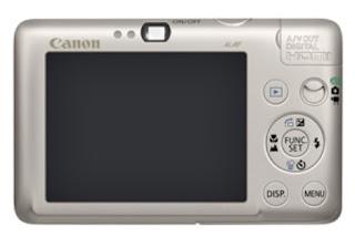 Kamera IXUS 100 IS layar