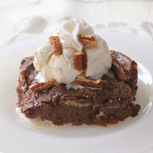 in defense of a great dessert:  chocolate bread and butter pudding