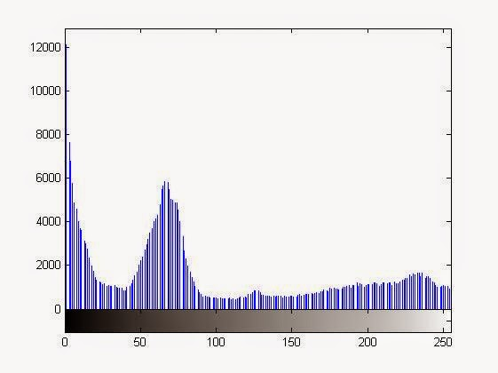 Right Shifted Histogram after the multiplication operation on the image