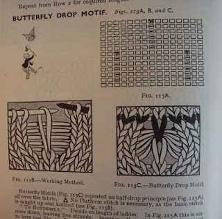 Butterfly Drop Motif (it's a knitter thing)
