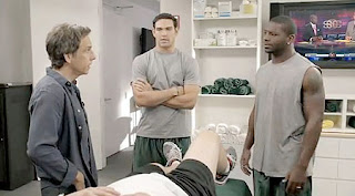 Ben Stiller and Mark Sanchez and LaDainian Tomlinson and New York Jets