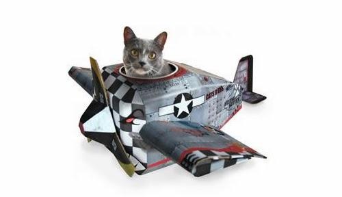 Картонный домик Cat playhouse