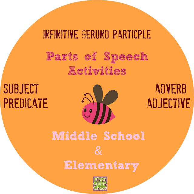 Parts of Speech Activities for Middle School and Elementary
