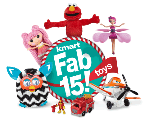 Kmart Fab 15 toys
