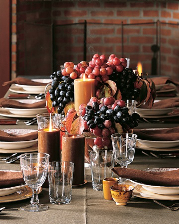 creative thanksgiving centerpiece, martha stewart centerpiece