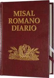 Misal Diario Lecturas con las oraciones de la misa diaria.
