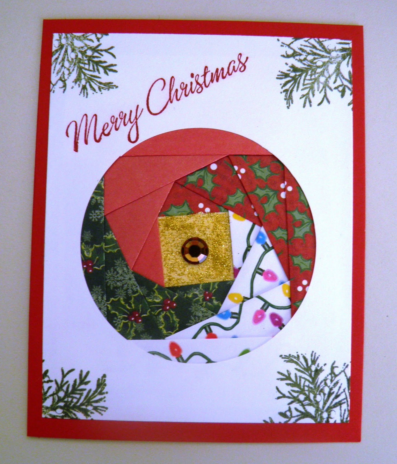 card happy  iris folded christmas cards