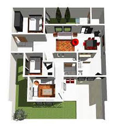 skala rumah minimalis