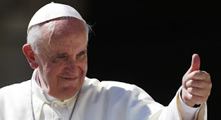 thumbs up from Pope Francis