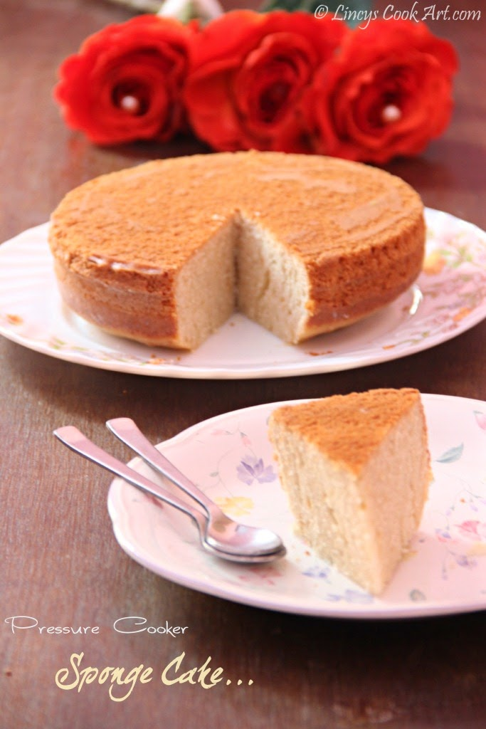 Pressure Cooker Sponge Cake