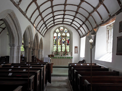 Inside St Sampson's Church Golant Cornwall