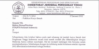 Download Surat Edaran Dikti Syarat Lulus S1 S2 S3