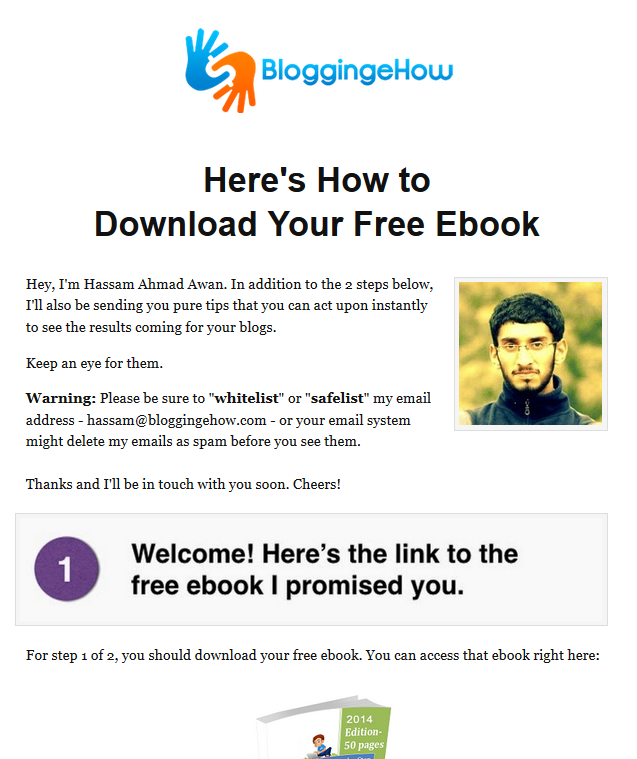 download page bloggingehow re designed