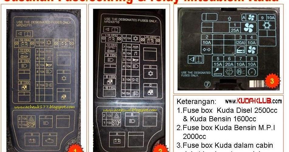 fuse box mitsubishi kuda diy wiring diagrams u2022 rh dancesalsa co 2007 Mitsubishi Outlander Fuse Box Colt Mitsubishi Fuse Box