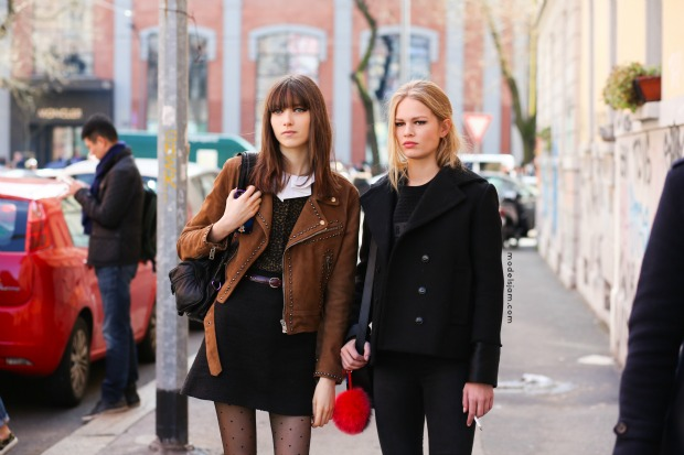 Grace Hartzel and Anna Ewers, Milano, February 2015