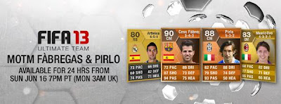 MOTM Fabregas and Pirlo - FIFA 13 Ultimate Team