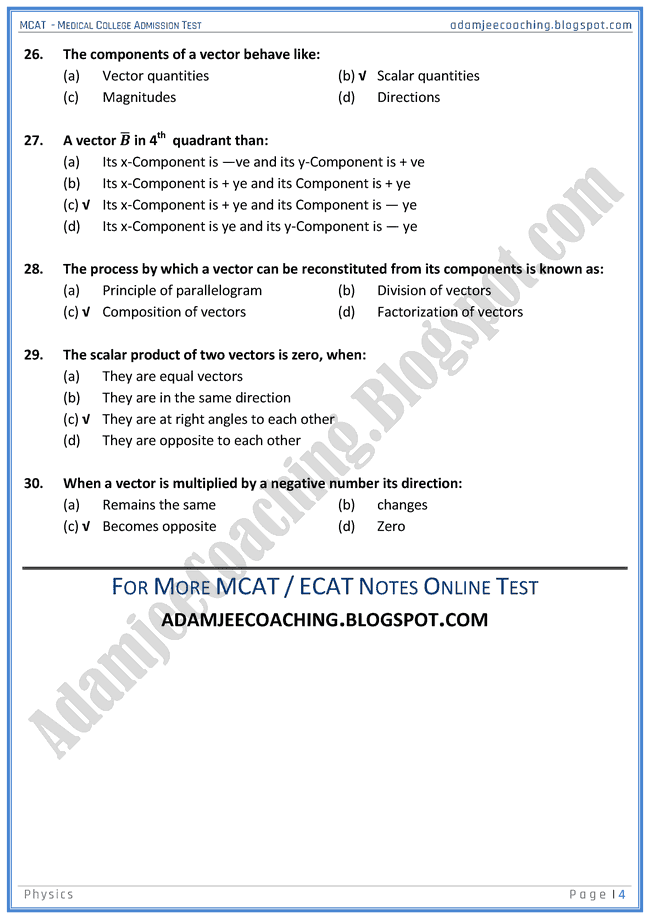mcat-physics-scalars-and-vectors-mcqs-for-medical-entry-test