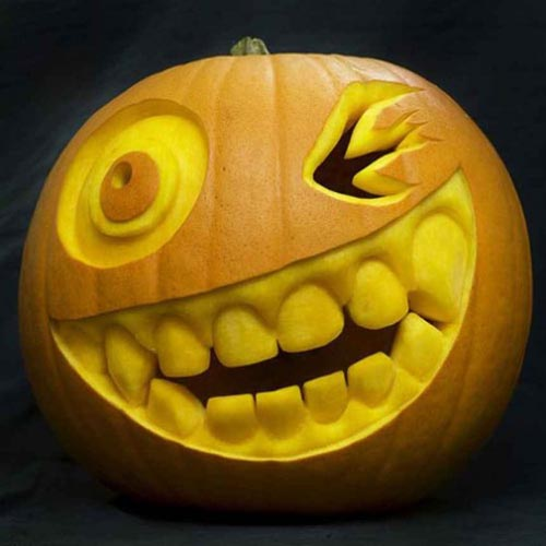 Halloween Pumpkin Carving for landscaping exterior decorating