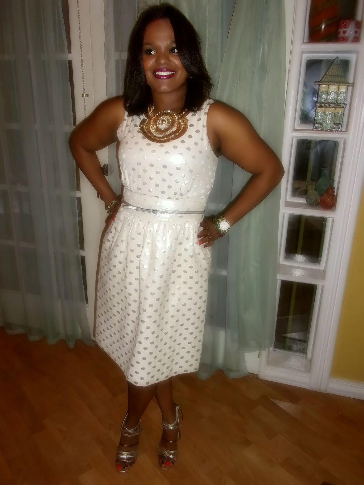 LaMoumous Fashion Blog: Silver Polka Dot & Statement Gold ...