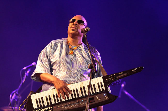 Stevie Wonder no Rock in Rio em 2011 (Foto: Getty Images)