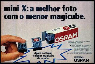 magicube - flash - Osram; fotografia; câmera fotográfica;  década de 70. os anos 70; propaganda na década de 70; Brazil in the 70s, história anos 70; Oswaldo Hernandez;