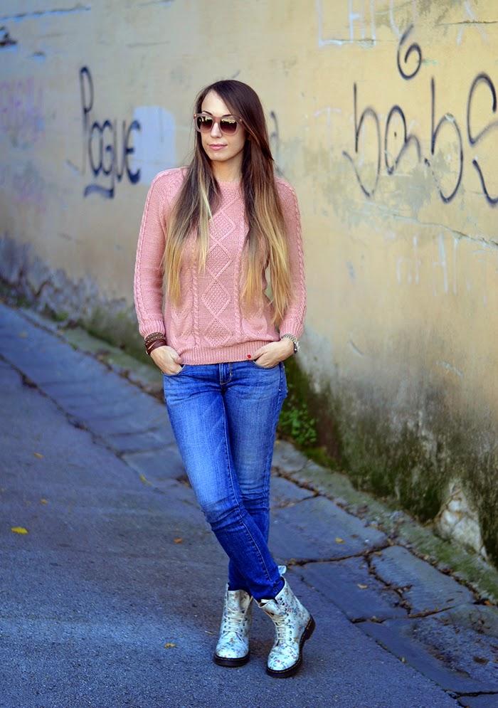 look jeans e maglione