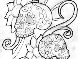 Free Sugar Skull Coloring Pages