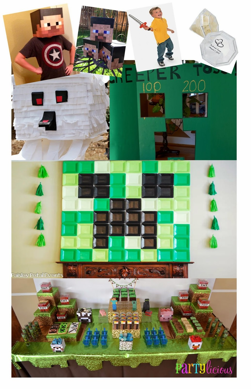 Minecraft Party Inspiration | Shipwrecked on Fabulous Island