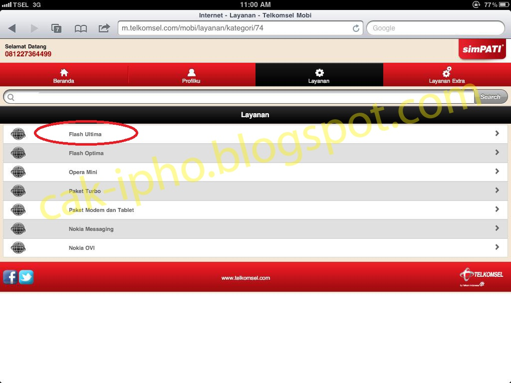 Telkomsel Internet Unlimited Ipad