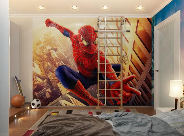 Decorar un Dormitorio Infantil Inspirado en Spiderman by artesydisenos.blogspot.com
