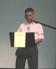 Martín Lozano recitó un poema cosecha propia