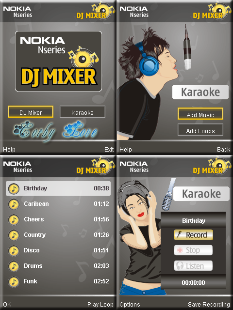 Nokia DJ Mixer 240 x 320 Touchscreen APPS