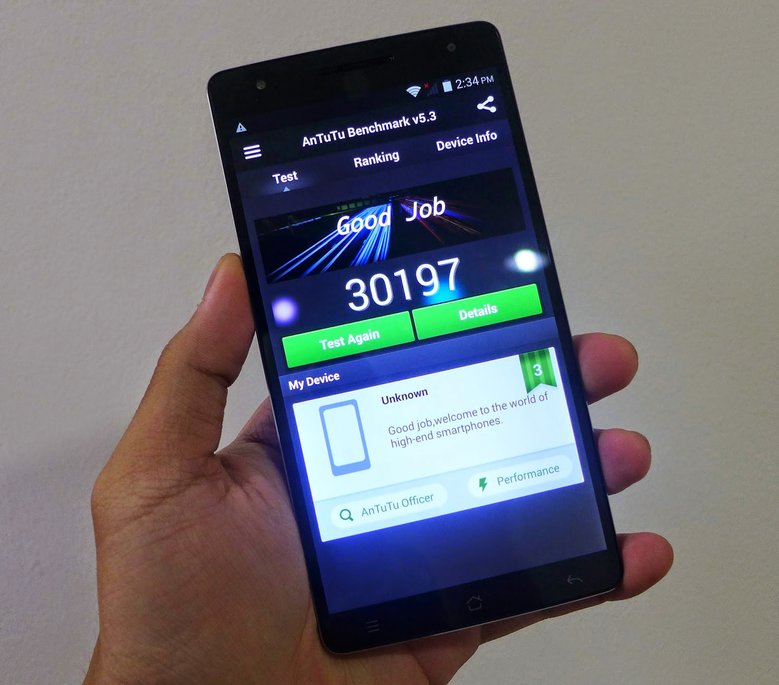 The CloudFone Thrill 600FHD Antutu Benchmark