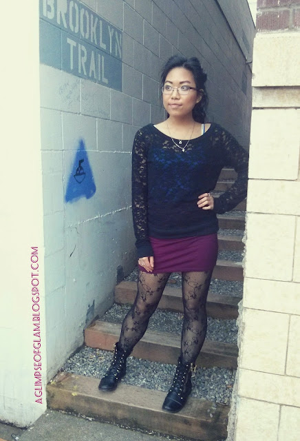black lace sweater outfit