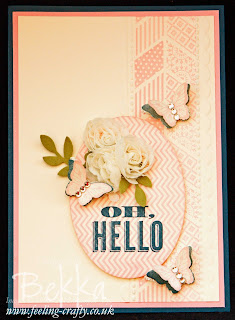 Oh Hello Card by Stampin' Up! Demonstrator Bekka Prideaux for people who joined her team - a great way to turn your hobby into a business.  Contact her to find out more.