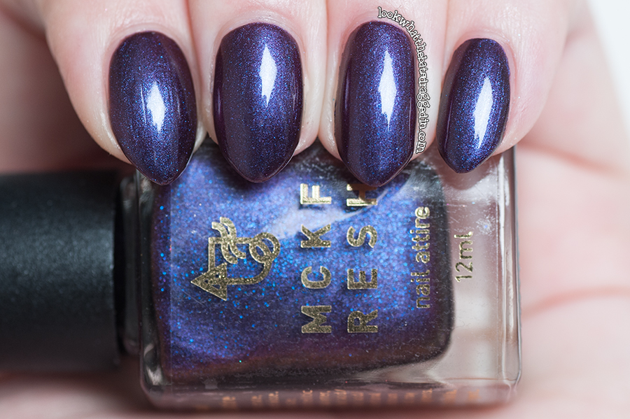 Swatch and review of Mckfresh Nail Attire Goosebumps nail polish collection Be Careful What You Wish For