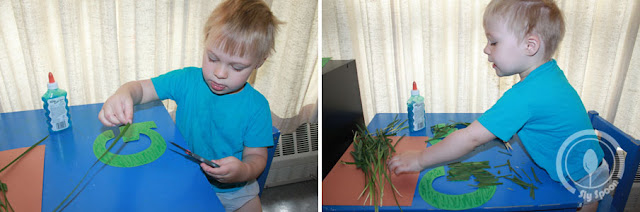 Toddler/Preshooler letter of the week craft G is for Grass with related craft, tracing sheets and fruits/vegetables.