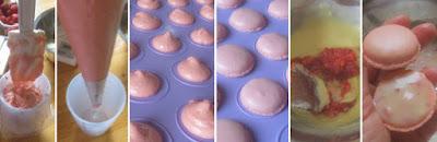 Zubereitung Erdbeer-Macarons