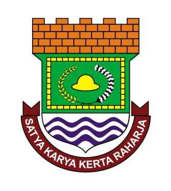kabupaten tangerang ibukota tigaraksa logo vector kabupaten tangerang ...