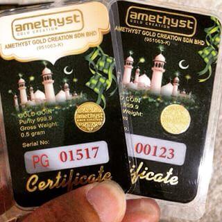 0.5 gram syiling emas 999.9
