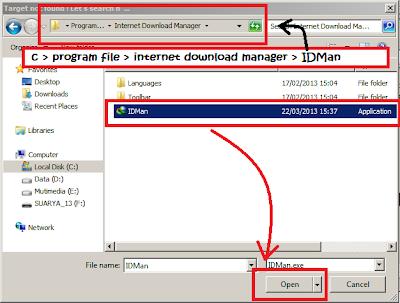 letak file IDM