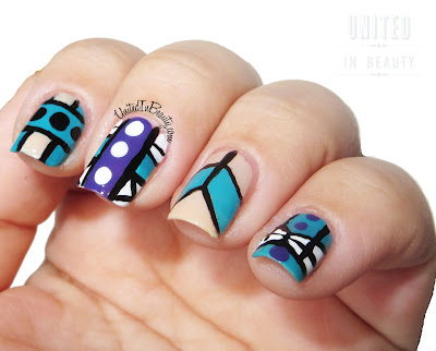Tribal Print Nails