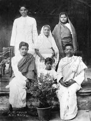 Kasturba M Gandhi with Her Family