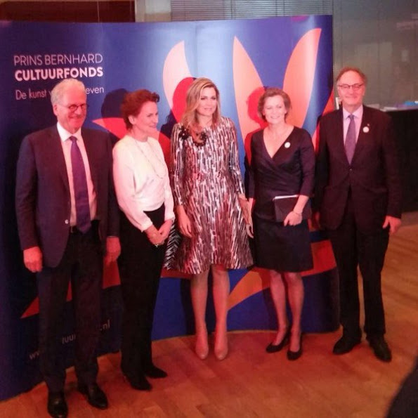Queen Maxima of The Netherlands presents the award from the Prince Bernhard Culture Price 2015 (Prince Bernhard Culture Fund) at the Muziektheater - Nationale Opera & Ballet
