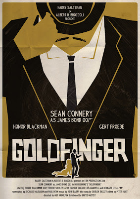 ok ok no Golder Finger James Bond Sean Connery Movie Poster