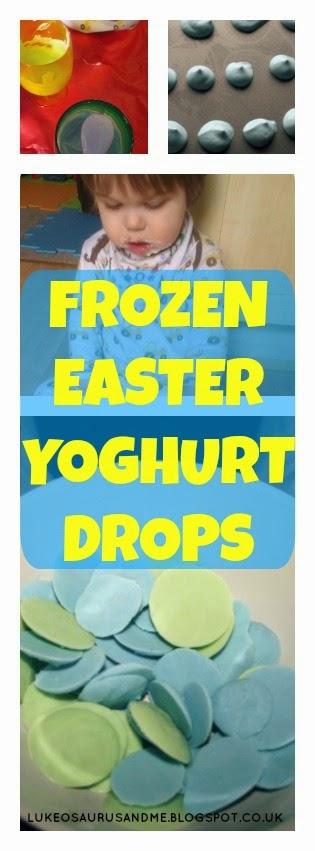 Frozen Easter Yoghurt Drops // Tasty, healthy treats for your kids this Easter // Chocolate free! // www.lukeosaurusandme.blogspot.co.uk // www.lukeosaurusandme.tumblr.com // www.instagram.com/gloryiscalling // www.twitter.com/gloryiscalling
