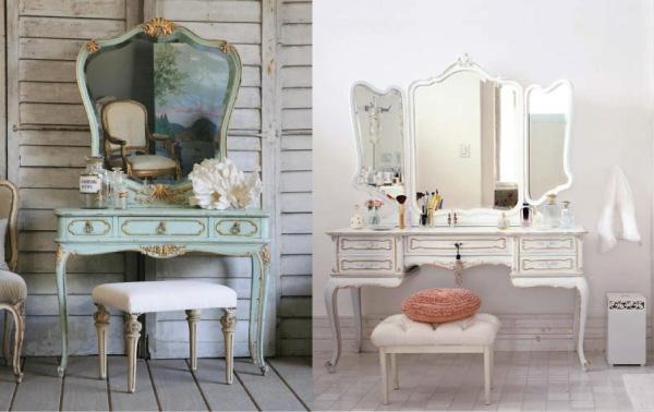 penteadeiras clássicas - vintage - dressing table - romantico - antigo - retrô - feminino- quarto - bancada - cantinho de maquiagem