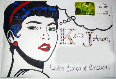 thats the way the cookie crumbles, mail, art, mailart, envelope, mail, art, woman, retro