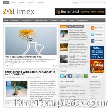 Limex blog template. magazine blogger template style. magazine style template blogspot. 3 column blogspot template
