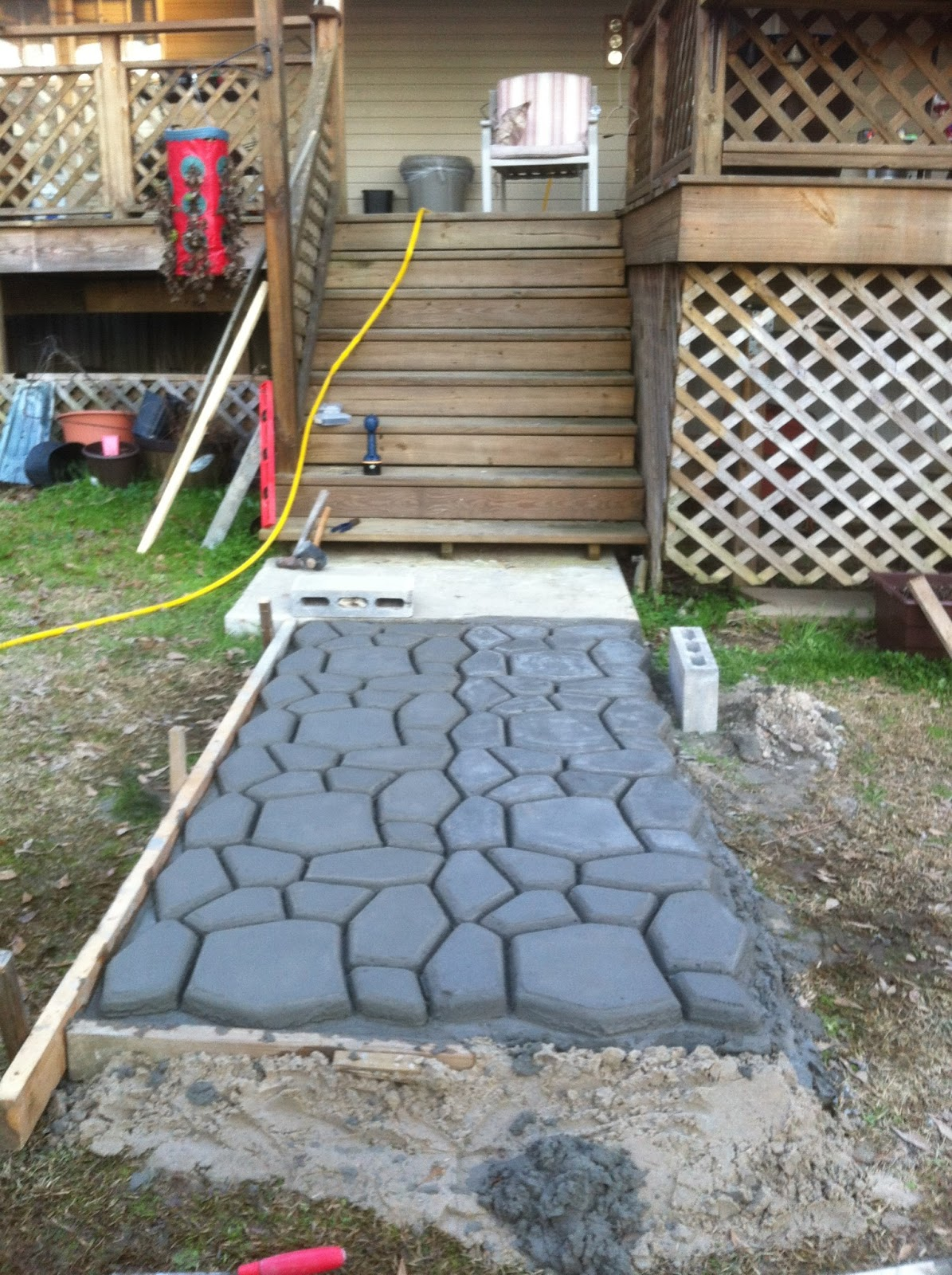 Our life stone patio for Pictures of stone patios